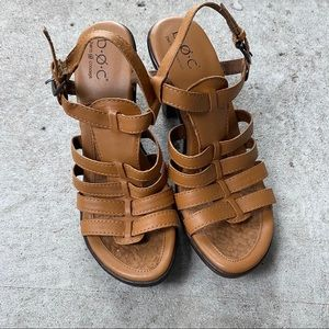 BOC Strappy High Heeled Sandals Tan Brown